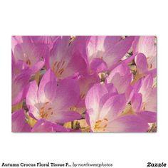 """Autumn Crocus Floral Tissue Paper 10"""" X 15"""" Tissue Paper"""