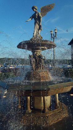 water fountain in lake geneva