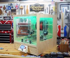 """I made an enclosure for my Prusa i3 RepRap 3D Printer to protect it from sawdust in my woodworking shop. Watch my video of the project and follow these steps to make one for your 3D printer. The overall size is 19.5"""" wide x 22"""" tall x 23"""" deep; however, you may need to adjust the size to fit your 3D printer.Supplies: 1/4"""" plywood, 1/2"""" plywood, 3/4"""" plywood, clear acrylic, zip ties, screws, glue, LED light strip, washers, magnetsTools: Table saw, band saw, drill,..."""