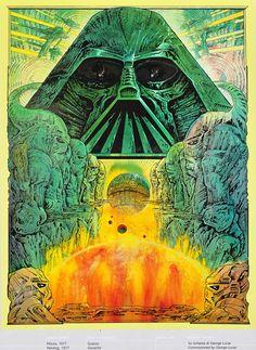 70s Sci-Fi Art: artsytoad:   Philippe Druillet,Star Wars poster...