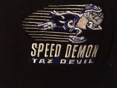 82ace3ca Details about Tasmanian Devil Embroidered T-Shirt Acme Clothing Looney Tunes  Taz Speed Demon