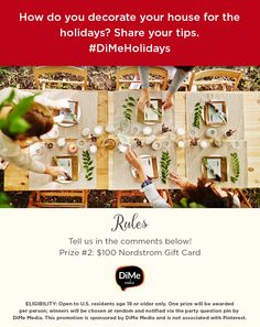 PRIZE QUESTION #2! Answer in the comments below. #DiMeHolidays