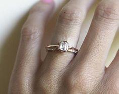 949489bf1257 Emerald Cut Diamond Engagement Ring Emerald Cut Engagement