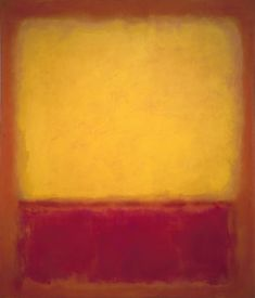 "Mark Rothko ""No. One of the inspirations for ""the color orange,"" A product, is Mark Rothko's Mark Rothko Paintings, Rothko Art, Tachisme, Purple Art, Abstract Painters, Abstract Art, Colour Field, Yellow Painting, Wall Art Pictures"