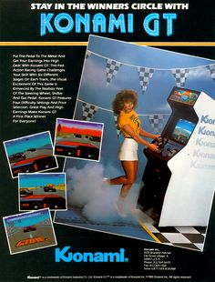 The Arcade Flyer Archive - Video Game Flyers: Konami GT, Konami Pc Engine, Vintage Video Games, Retro Videos, Arcade Machine, Video Game Art, Games For Girls, Arcade Games, Funny Pictures, Feelings