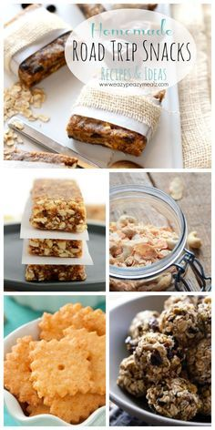 Homemade Road Trip Snacks: If you are hitting the road, be sure to check out this round up that includes Peanut Butter Bliss Bars + Make Your Own Road Trip Snacks! It is full of great ideas #ad #FueltheLove - Eazy Peazy Mealz