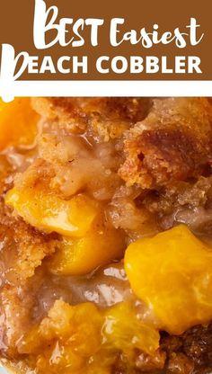 Peach Cobbler With a Twist Can Peach Cobbler, Good Peach Cobbler Recipe, Fruit Cobbler, Southern Peach Cobbler Recipe With Canned Peaches, Canned Peach Cobbler Recipe With Pie Crust, Homemade Peach Cobbler, Fruit Recipes, Sweet Recipes, Dessert Recipes