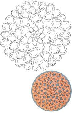 Crochet Butterfly Pattern, Crochet Coaster Pattern, Crochet Lace Edging, Crochet Chart, Crochet Diagram, Crochet Squares, Crochet Doilies, Crochet Flowers, Crochet Stitches