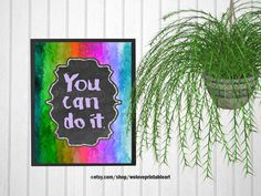 Teacher Classroom Decor, Printable Poster Gift, Rainbow Theme, Inspirational Quote for Kids