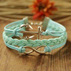 Infinity and anchor bracelet. So pretty!!
