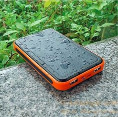 dual usb universal portable solar battery charger 10000mah waterproof solar power bank for iphone/samsung