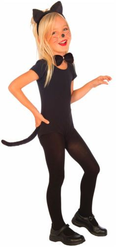 Plush-Kitty-Cat-Child-set-Costume-Kit-for-halloween-Ears-Tail-Tie-Animal-Fancy