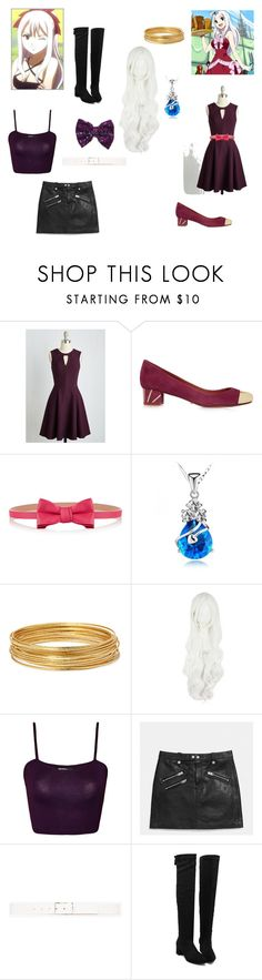 """""""Mirajane Strauss Fairy Tail"""" by opaldusk ❤ liked on Polyvore featuring Schutz, RED Valentino, Bold Elements, WearAll, Coach, Theory and plus size dresses"""