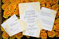 Eco-chic letterpress wedding invitations & stationery suites made from tree-free and recycled papers.