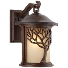 Arts and Crafts - Mission Bronze Mission Style Tree 15 High Outdoor Wall L - traditional - outdoor lighting - Lamps Plus Outdoor Lamp Posts, Outdoor Wall Lighting, Exterior Lighting, Outdoor Walls, Lighting Ideas, Cabin Lighting, Entry Lighting, Outdoor Lantern, Backyard Lighting