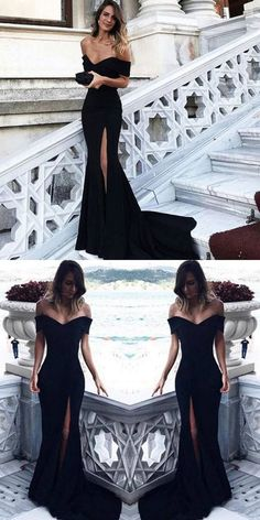 black formal dress for 2018 #outfits #prom