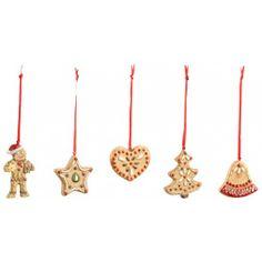 Villeroy & Boch Nostalgic Ornaments Ornamente Lebkuchen, Set 5tlg. 6cm-01