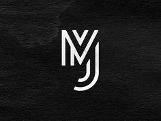 MJ Monogram Exploration 2 designed by Ryan Kirkpatrick. 2 Logo, Name Logo, Typography Logo, Wedding Logo Design, Wedding Logos, Monogram Logo, Initials Logo, Brand Identity Design, Branding Design