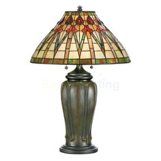 tiffany lamps | Quoizel Lighting Tiffany Collection 2 Light Table Lamp With A Finish ...