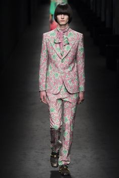 MEN'S VOWS: Gents, it is all about a bold print this fall. Gucci has some superb, if not over-the-top, patterns for you to stand out as you stand up at your wedding.