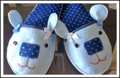 Tutorial, DIY, Passo à passo Como fazer Chinelo de Feltro - Vivartesanato Tutorial Diy, Free Sewing, Sewing Hacks, Sewing Ideas, Puppets, Crochet, Baby Shoes, Projects To Try, Lunch Box