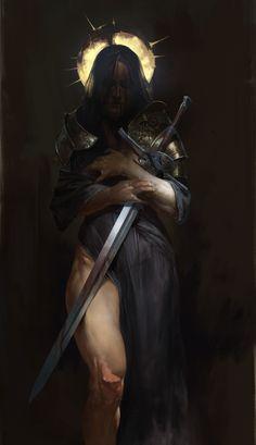 Répertoire Image Fantasy - Page 233 Dark Fantasy Art, Fantasy Artwork, Dark Art, Arte Horror, Horror Art, Character Portraits, Character Art, Paladin, Fantasy Warrior