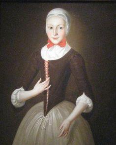 c 1755 John Valentine Haidt (1700 - 1780) Young Moravian Girl. Smithsonian American Art Museum, Washington, D.C.