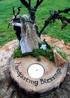 Handmade jute god  goddess Handfasting gift / altar piece by positivelypagan.com Wedding Gifts, Wedding Ideas, Handfasting, Rowan, Wicca, Altar, Jute, Whimsical, Blessed