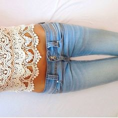 Lace and jeans