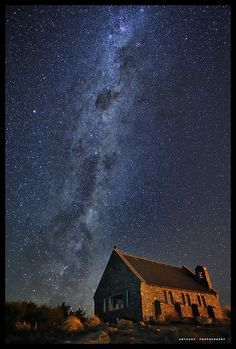 'The Galaxy Church' taken in Tekapo, Canterbury, New Zealand by anthonyko on flickr