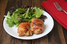 Bacon Wrapped Chicken Thighs (Low Carb and Paleo) | Living Low Carb One Day At A Time