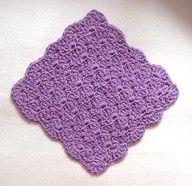 Crochet solid shells dishcloth
