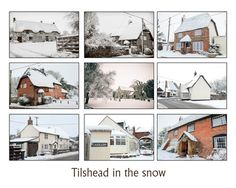 Tilshead in the snow Winter in Wiltshire, my little village of Tilshead looked magic, like an English village should. Snow clad thatched cottages that are just beautiful