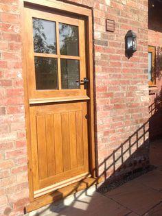 External Solid Oak Stable Door, 4 Panel Stable Door  #StableDoor #Stables  http://www.ukoakdoors.co.uk/external-doors/external-doors-by-type/stable-doors/external-4-panel-stable-solid-oak-door.html