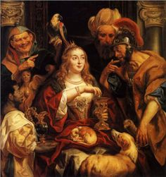 JORDAENS - Flemish (Antwerp 1593 - 1678) - The Banquet of Cleopatra