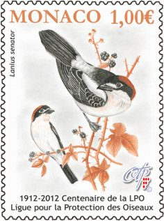 Birds Protection - stamp from Monaco