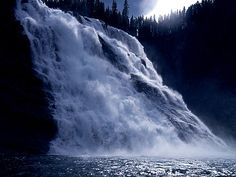 """Kinuseo Falls - Monkman Provincial Park, B.C. Located on the Murray River, which flows through the northern tip of """"Monkman Provincial Park in the Northern Rockies of British Columbia, Canada. The falls measure 197 feet."""" #explorebc"""