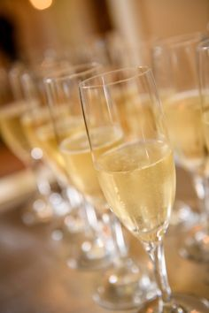 Champagne toasts for the wedding reception. Learn more about your bar options!