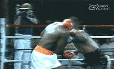 The baddest ever, Mike Tyson, throwing an uppercut from hell.