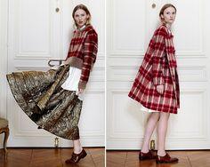 - red plaid coat + jacket - Brock Fall 2014