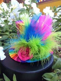 Funky Rainbow Mini Top Hat for Dress Up Birthday by daisyleedesign, $25.95