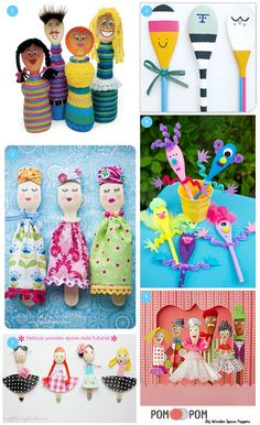 Diy Wooden Spoon Puppets - then endless varieties...