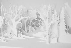 Paper scenery- again, I don't think it's laser cut but it a good inspiration!