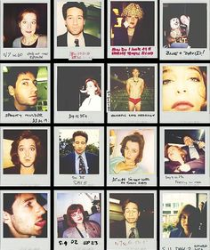 Mulder and Scully Polaroids