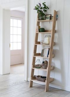 Our original Raw Oak Shelf Ladder, with 6 graded shelves, offers a striking and fresh shelving alternative.