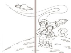 full page cover art to blast off with gabby and maddox
