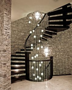 An ideal lighting option for the contemporary spiral staircase