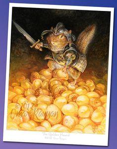 The Golden Hoard (mini print)