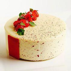 Raspberry white chocolate entremet