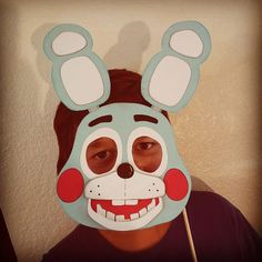 Five 5 Nights At Freddy's Toy Bonnie Mask Photo Prop by ConnieHertzCraftz on Etsy https://www.etsy.com/listing/233905957/five-5-nights-at-freddys-toy-bonnie-mask